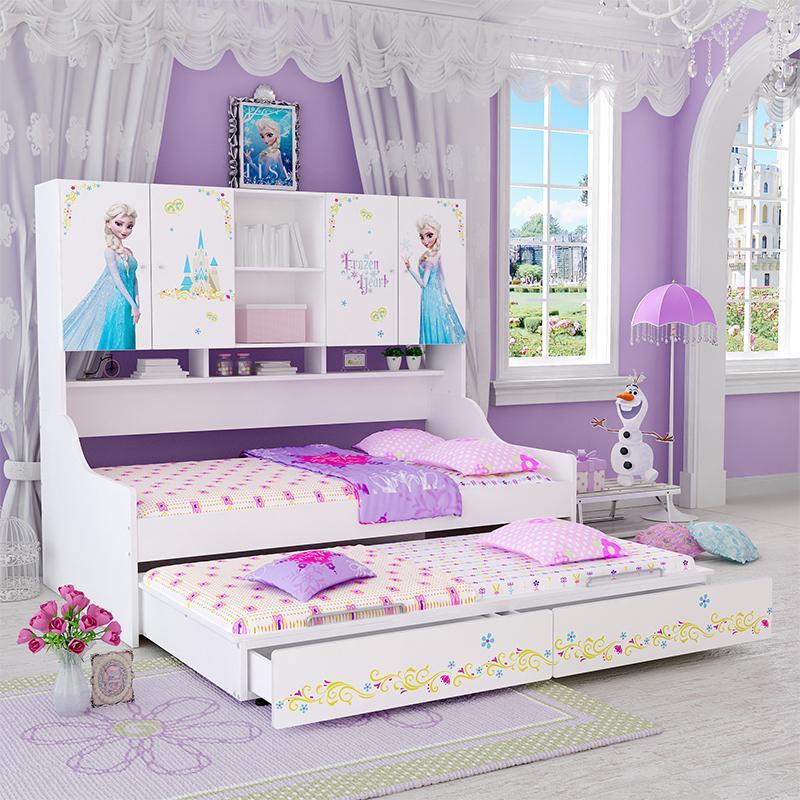 酷漫居 迪士尼系列儿童家具动漫儿童床侧柜床