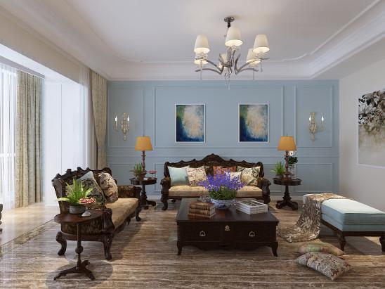 时代奥城四居美式风格案例欣赏