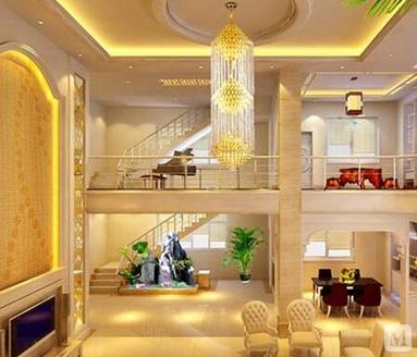 楼中楼客厅吊顶图片设计以及如何省钱装修