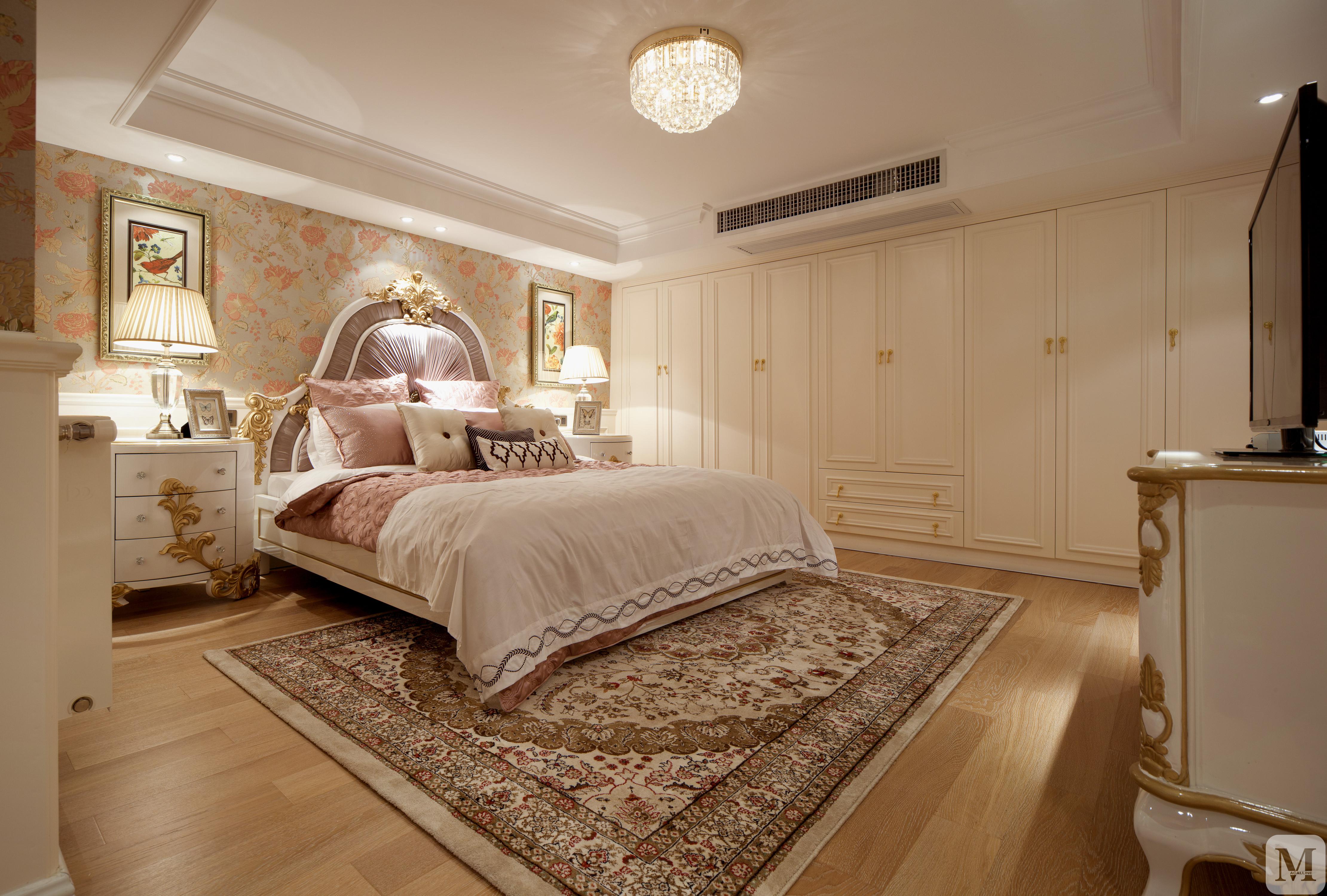 简欧卧室窗帘装修效果图 图片信息 卧室吊顶窗帘衣柜简欧 立即提交图片