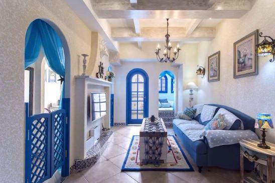 蔚蓝色的地中海风格