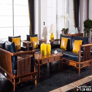苏梨现代新中式家具 出人头地客厅沙发 新中式风格客厅 出人头地 CKS01