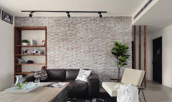文化砖+老木头,打造质朴舒适的家