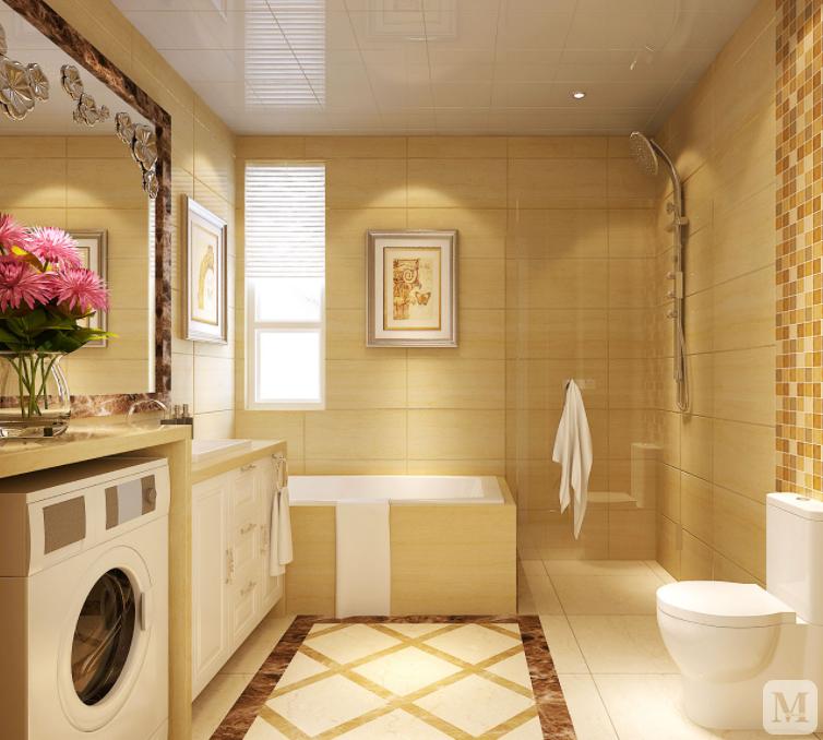 卫生间瓷砖装修效果图欣赏 用色彩来诠释装修的美感