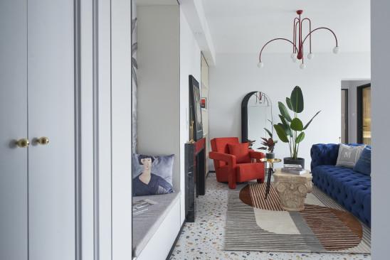 水磨石+艺术壁纸打造精品现代住宅