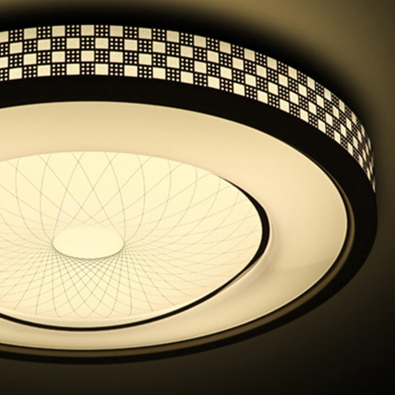 led吸顶灯简约现代圆形卧室灯大气客厅灯过道餐厅阳台灯遥控灯具