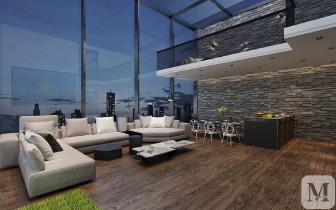 日光环绕现代化公寓