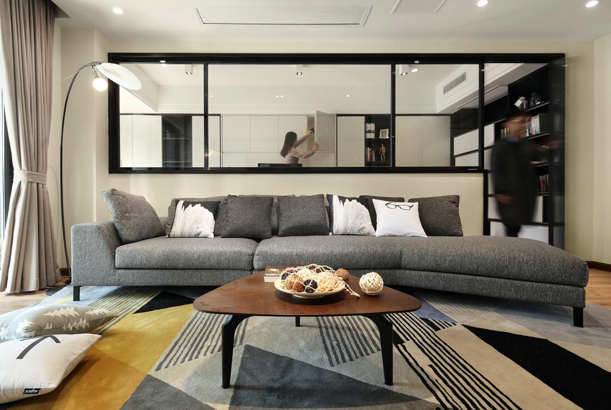 """140㎡木质简约配黑白现代,超赞""""半墙+玻璃""""书房里还藏下一张床"""
