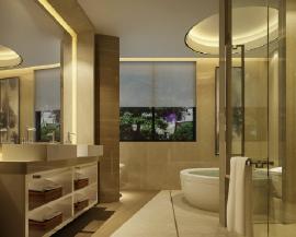 卫生间地砖效果图  时尚实用的卫生间设计