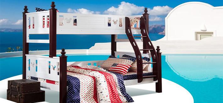 实木儿童双层床