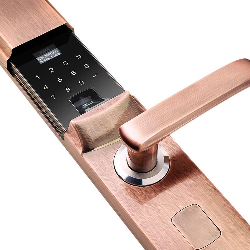 指纹密码防盗门锁