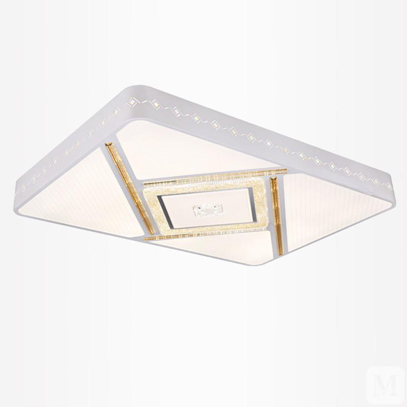 雷士照明LED客厅灯简约现代卧室书房吸顶灯长方形三色变光