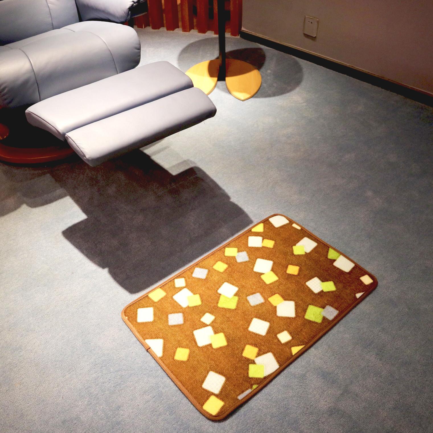 蜂之语素色地垫 实用门口地垫