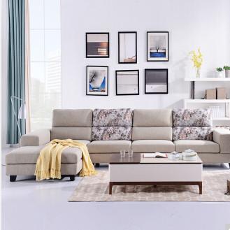 可拆洗客厅转角布沙发