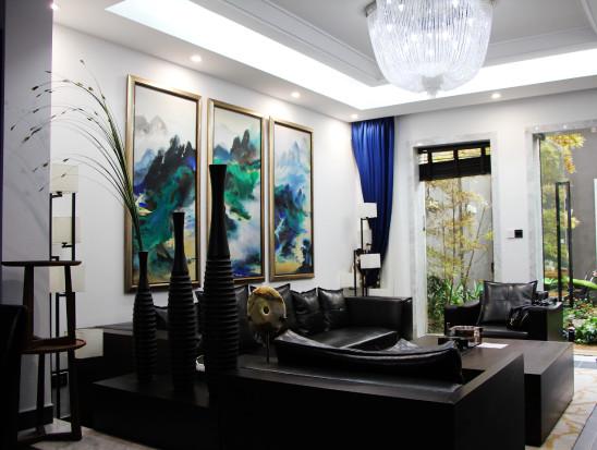 竹林入室,池鱼相伴,新中式别墅日子惬意