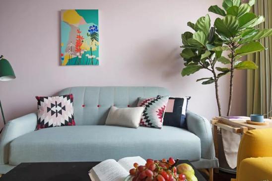 喜欢这样粉调的客厅,暖心惬意