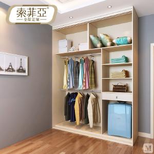 索菲亚 衣柜 现代简约 索菲亚全屋定制 白蔷薇枫木色百叶