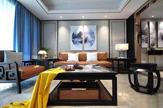 210m²轻奢新中式风,四代同堂的复式家