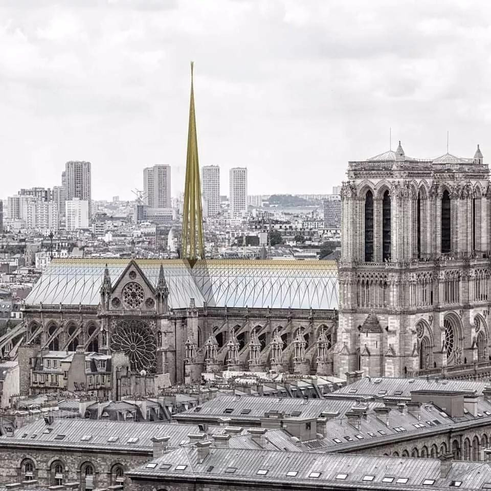 法国宣布修复巴黎圣母院,设计圈炸锅了,你最期待哪个版本?