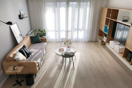 北欧三房,餐厅与厨房间的室内窗,漂亮
