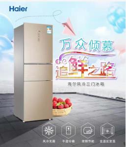 海尔智慧云 海尔冰箱 风冷三门冰箱 海尔智慧云整装家居 BCD-262WDGB