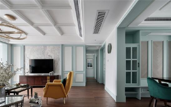 160㎡气质美式4室,轻奢典雅的品质生活