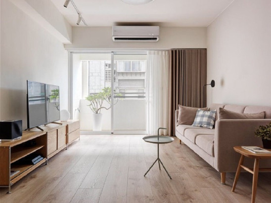 现代极简风三居室,清新原木 温暖舒适的家
