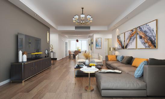 天下锦城177平现代风格设计案例
