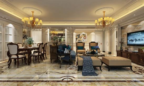 玫瑰园205平欧式风格设计案例
