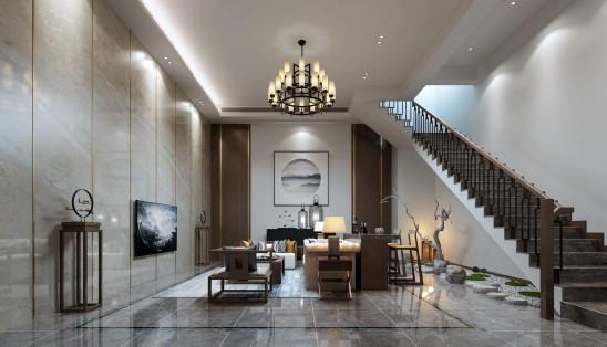 中海央墅270平新中式风格设计案例