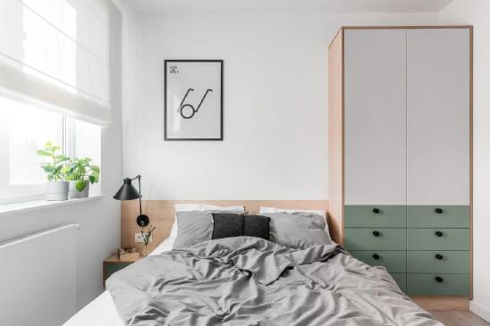 45㎡北欧风小公寓,长虹玻璃门+灰绿色,