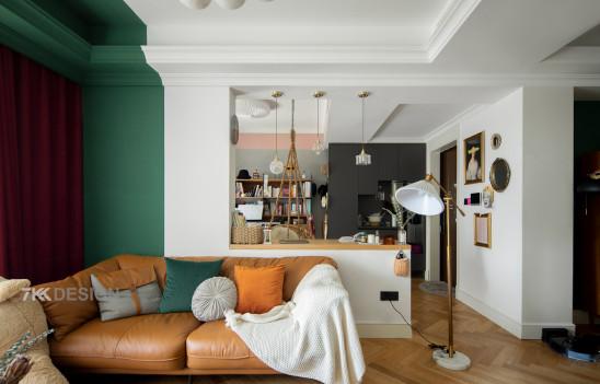 魔都115㎡精装房改造,精彩配色塑造文艺复古风,仅花15万